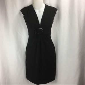 K15 Cache Dress Black Cinched Empire  Sz 2